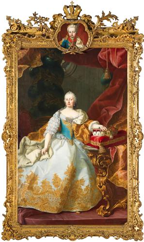 幼いヨーゼフ2世を伴ったマリア・テレジア