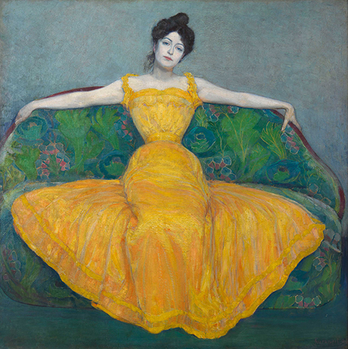 Lady in Yellow (Wife of the Artist)